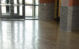 Polished Concrete at City Hall Madras, Oregon
